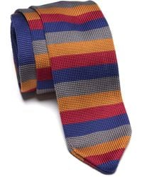 Paisley and Gray - Stanley Stripe Print Knit Tie In Blue At Nordstrom Rack - Lyst