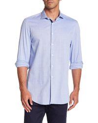 Michelsons Of London - Diamond Long Sleeve Slim Fit Shirt - Lyst