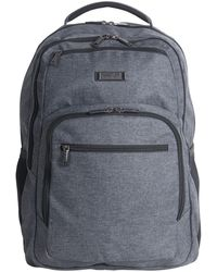 """Kenneth Cole Reaction Heathered Triple Compartment 17.3"""" Computer Business Backpack - Gray"""