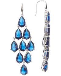 Carolee Kite Chandelier Earrings - Blue