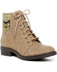 Madden Girl - Foxtrt Embroidered Combat Boot - Lyst