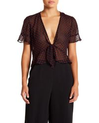 BCBGeneration - Front Tie Top - Lyst