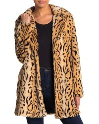 Love Token Tiger Print Faux Fur Jacket - Brown