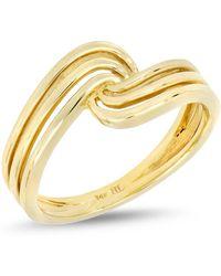 Bony Levy - 14k Yellow Cutout Twist Ring - Lyst
