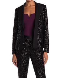 Bailey 44 Brooke Sequin Blazer Jacket - Black