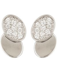 Bony Levy - Double Oval Diamond Earrings - 0.11 Ctw - Lyst