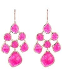 Monica Vinader Rp Siren Pink Quartz Chandelier Earrings