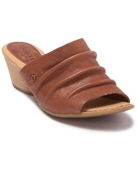 Born Slouchy Slide Sandal - Brown