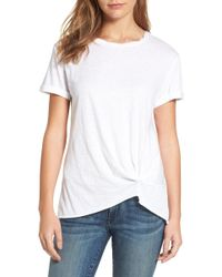 Caslon - Knotted Tee (regular & Petite) - Lyst