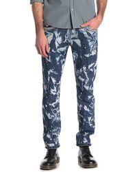 Rock Revival Acid Wash Straight Leg Jeans - Blue