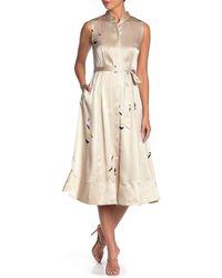 Equipment - Clevete Silk Midi Dress - Lyst