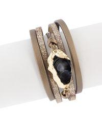 Saachi - Morning Leather & Agate Bracelet - Lyst