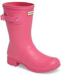 HUNTER - Original Tour Short Packable Rain Boot - Lyst