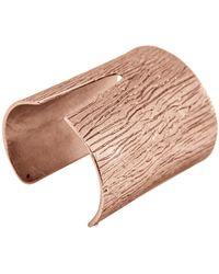Karine Sultan - Textured Bark Slit Cuff - Lyst