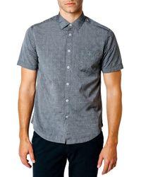 Good Man Brand - Trim Fit Geometric Short Sleeve Sport Shirt - Lyst