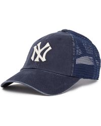American Needle - New York Yankees Raglan Bones Mesh Baseball Cap - Lyst