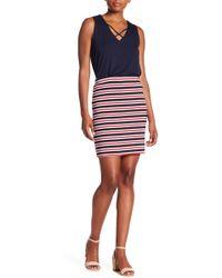 Karen Kane - Striped Pencil Skirt - Lyst