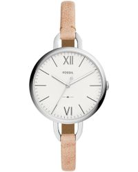 Fossil - Women's Round Sand Leather Strap Watch, 36mm - Lyst