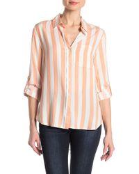 Velvet Heart - Striped Button Down Shirt - Lyst