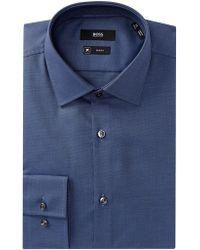 BOSS - Jenno Slim Fit Solid Dress Shirt - Lyst