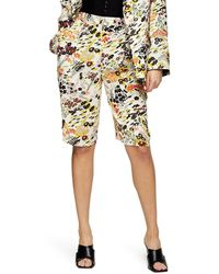 TOPSHOP Idol Floral Print Shorts - Multicolour