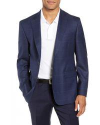 John W. Nordstrom - (r) Traditional Fit Windowpane Wool Sport Coat - Lyst