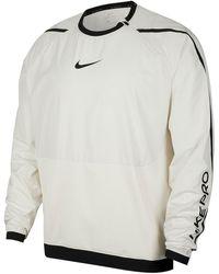Nike Pro Water-repellent Dri-fit Long Sleeve Shirt - White