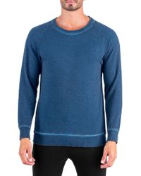 Unsimply Stitched | Dirty Washed French Terry Relaxed Neck Crew Sweater | Lyst