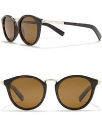Cole Haan Cat-eye 50mm Round Polarized Sunglasses - Brown