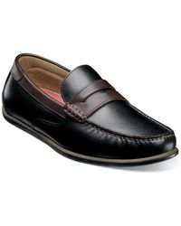 Florsheim Sportster Leather Penny Loafer - Wide Width - Black