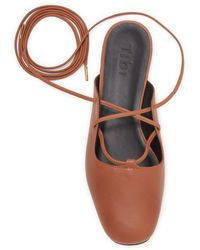 Tibi Lila Lace-up Ankle Flat - Multicolour