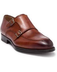 Magnanni Palron Double Monk Strap Shoe - Brown
