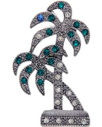 Marc Jacobs - Swarovski Crystal Accented Palm Tree Pin - Lyst