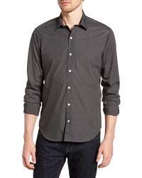 JEFF Dana Point Long Sleeve Novelty Trim Fit Sport Shirt - Blue