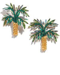 BaubleBar Palms Statement Stud Earrings - Blue