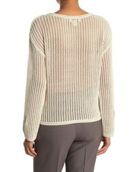 Club Monaco Mesh Boat Neck Sweater - Natural