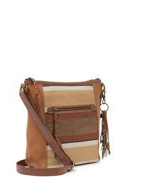 The Sak Alameda Woven Leather Crossbody - Brown