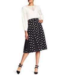 Marc Jacobs   Printed Box Pleat Silk Skirt   Lyst