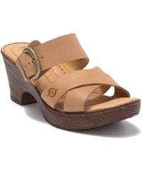 Born Charlotta Block Heel Sandal - Brown