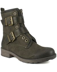 White Mountain Footwear San Diego Buckle Boot - Green