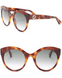 64ca339dace Lyst - Gucci 56mm Cat Eye Sunglasses in Brown