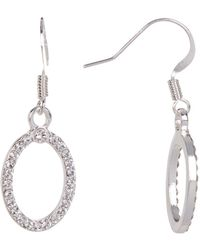 c.A.K.e. By Ali Khan - Swarovski Crystal Drop Oval Earrings - Lyst