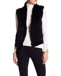 June - Short Genuine Dyed Rabbit Fur Vest - Lyst