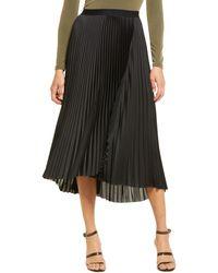 Chelsea28 Pleated Midi Skirt - Black