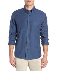 Nordstrom - Traditional Fit Brushed Twill Sport Shirt - Lyst