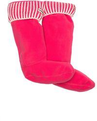 HUNTER Original Ribbed Boot Sock - Pink