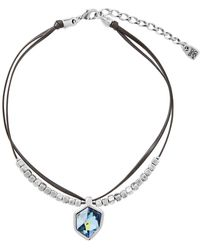 Uno De 50 - Fresh Multi-strand Swarovski Crystal Element Pendant Necklace - Lyst