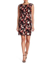 Donna Ricco - Embroidered Mesh Dress - Lyst