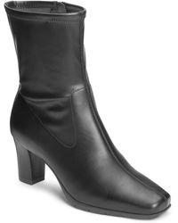 Aerosoles Cinnamon Block Heel Mid Boot - Black
