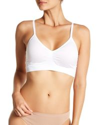 Yummie By Heather Thomson - V-neck Padded Solid Bralette - Lyst